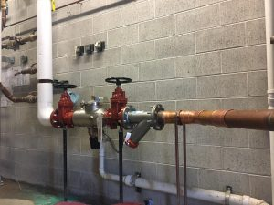 RPZ backflow prevention device